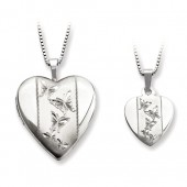 Polished Butterfly Locket