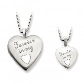 Polished Forever in my Heart Locket
