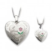 Polished Rose I Love You Locket