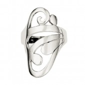 Sterling Silver Scroll Ring  #1838