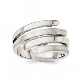 Sterling Silver Polished and Brushed Ring #6143