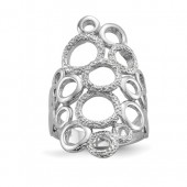 Sterling Silver Polished and Textured Circles #6589