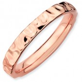 Rose Plated Hammered Band