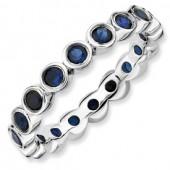 Sterling Silver Swarovski Sapphire Ring