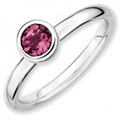 Sterling Silver Pink Tourmaline Ring
