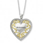 CZ Bridesmaid Heart