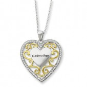 CZ Godmother Heart