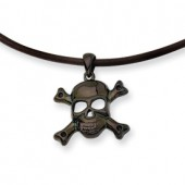 Black Plated Skull Necklace