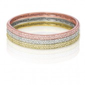 Sterling Silver Stackable Bangle Set