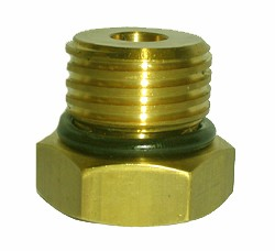 "#100-268: ADAPTER,TEST,1 1/8""DIA,8 TPI,MALE,BRASS"