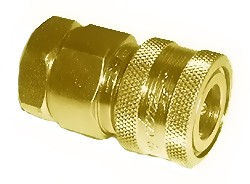 "#110-035: QUICK COUPLER, 1/4""FNPT, PLATED STEEL WITH CLOSED CENTER"