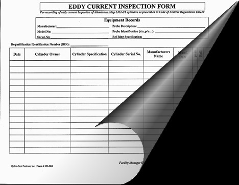 #393-005: EDDY CURRENT INSPECTION FORM