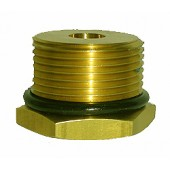 "#100-272: ADAPTER,TEST,1 3/8""DIA,12 TPI,MALE,BRASS"