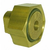 "#100-280: ADAPTER,TEST,1 5/16""DIA,18 TPI,FEMALE,BRASS"