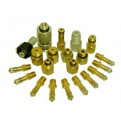 #100-400: RECHARGE ADAPTER KIT, SET OF 12 WITH AIR VALVES