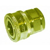 "#110-001: QUICK COUPLER, 1/2""FNPT, PLATED STEEL"