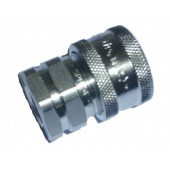 "#110-045: QUICK COUPLER, 1/4""FNPT, STAINLESS STEEL"