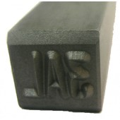 "#230-134: STAMP,1/4""CHAR., 3 DIGIT(3AL)"