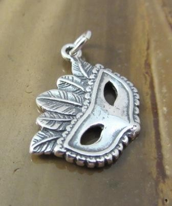 Mask with Feathers Charm