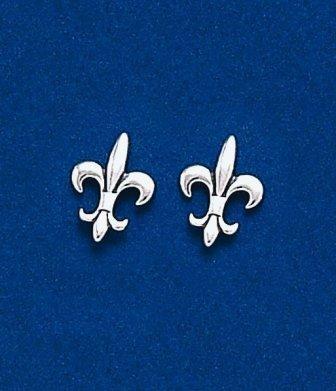 Fleur de lis Medium Classic Post Earrings