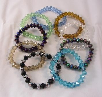 Faceted Glass 10mm Bracelet