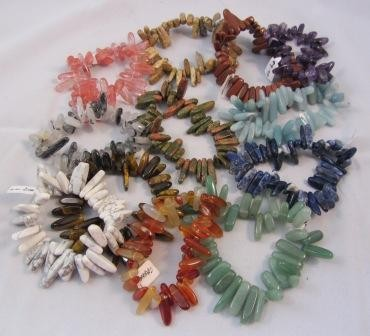 Gemstone Stick Chip Bracelet