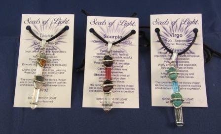 Astrological Baby Wand Pendants