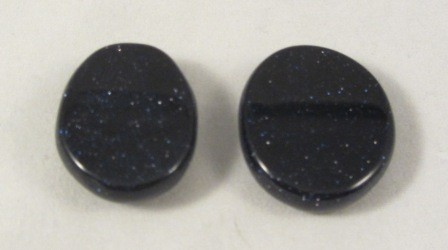 Blue Goldstone Polished Coin