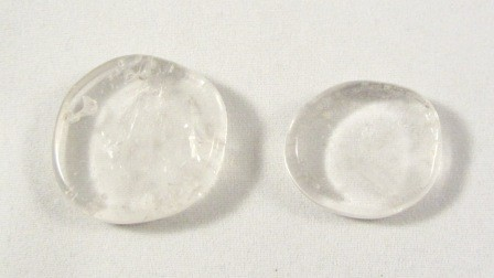 Clear Quartz Polished Coin
