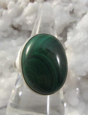 Malachite Cabachon Ring
