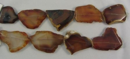 Carnelian Polished Slab Beads