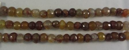 Carnelian Agate Off Round Beads