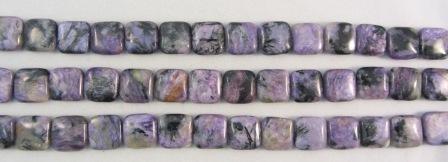 Charoite Flat Square Beads