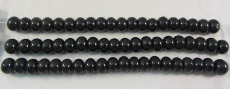Black Obsidian Rondelle Large Beads