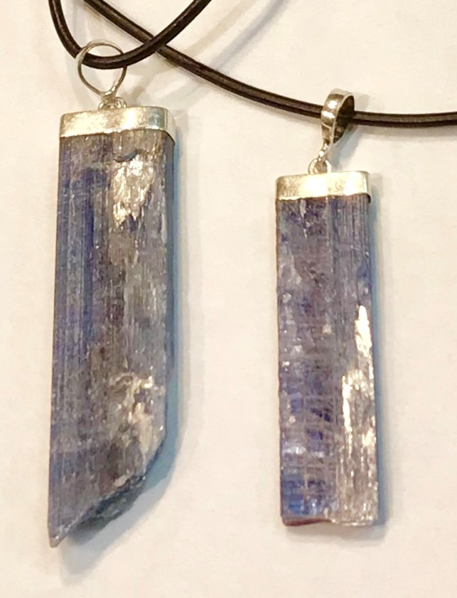 Kyanite in Sterling Silver Pendant