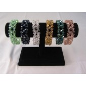 Faceted Glass Double Strand Bracelet