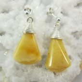 Amber Butterscotch Bell Shaped Earrings