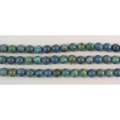 Azurite and Malachite Round 10mm Beads