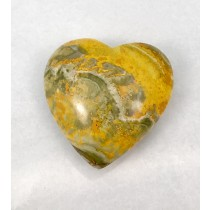 Bumble Bee Jasper Hearts Polished Large
