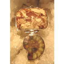 Ammonite and Jasper Pendant