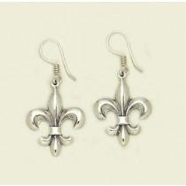 Fleur de lis Classic Design Earrings