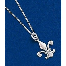 Fleur de lis Lightweight Pendant with Chain