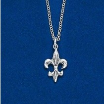 Fleur de lis Double Sided Pendant with Chain