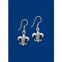 Fleur de lis Gothic Dangle Earrings
