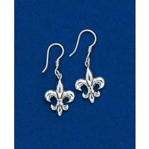 Fleur de lis Classic Solid Dangle Earring