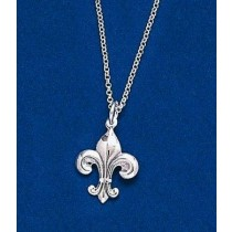 Fleur de lis Medium Pendant with Chain
