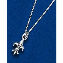 Fleur de lis Small Double Sided Pendant with Chain