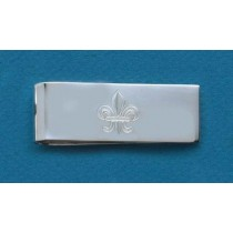 Fleur de lis Engraved Large Money Clip