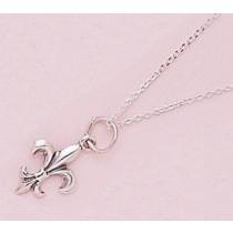 Fleur de lis Classic Lightweight Pendant with Chain