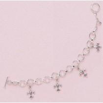 Fleur de lis Multi Charm Bracelet